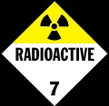 """Radioactive"" placard -- required on all vehicles transporting ANY any amount of material having radiation."