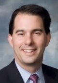 'Get off my lawn!' Wisconsin Gov. Scott Walker seems to be telling petitioners!