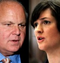 Rush Limbaugh, Sandra Fluke (Photo-Jim Hunt Show)