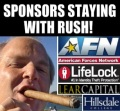 These are the sponsors sticking with Rush!