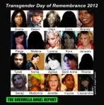 Some of the people remembered on TDOR 2012. Brandy Martell is in the upper right corner.