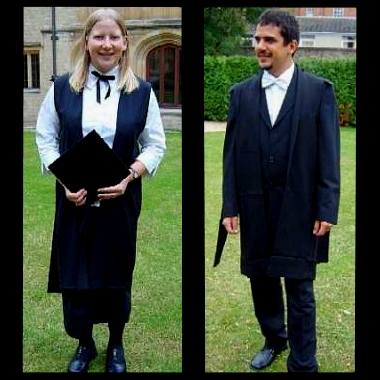 Models demonstrate Oxford's uniform or sub fusc