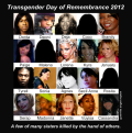 Just some of the many sisters and brothers killed at the hands of others in 2012. Feel free to share this composite image.
