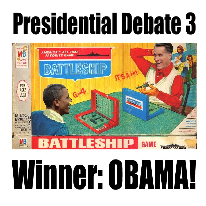 Mitt Romney isn't going to be playing Battleship with President Obama again anytime soon