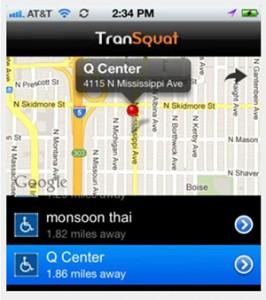 TranSquat app screenshot