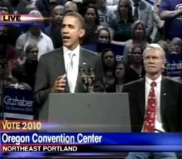 President Obama campaigns for Gov. Kitzhaber in 2010 (Photo: KATU-TV)