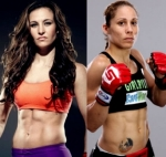 Miesha Tate, on the left, will not fight a trans woman, Liz C says she would