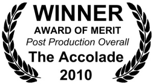 Picked up a number of awards at The Accolades 2010