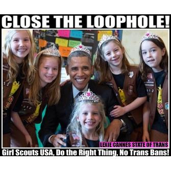 girl scouts obama transgender