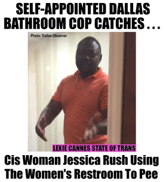 bathroom cop dallas