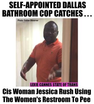 bathroom cop dallas