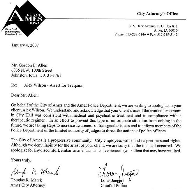 2007 arrest of trans woman for using women's bathroom